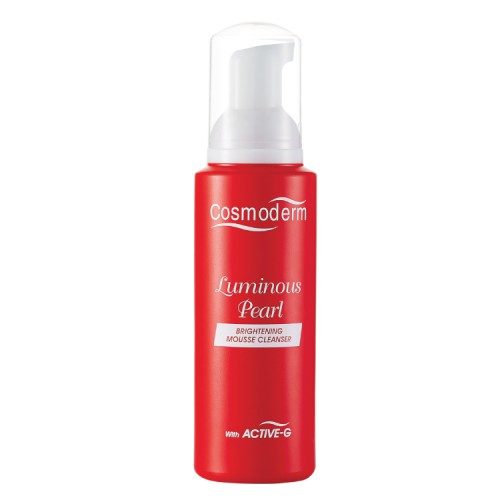 COSMODERM Luminous Pearl Brightening Mousse Cleanser (100ml)