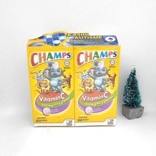 Champs Vitamin C with Lysine - Fruity (2x100s)